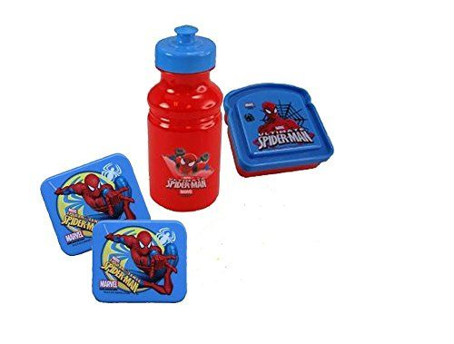 Marvel Ultimate Spider-Man Lunch Box Set - Includes Sandwich Container Pull Top Water Bottle & Spid @ niftywarehouse.com #NiftyWarehouse #Spiderman #Marvel #ComicBooks #TheAvengers #Avengers #Comics