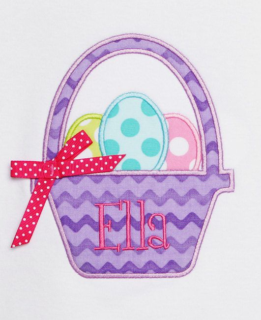 Monogrammed Easter Shirt Girls Easter Basket by bowdaciousbaby2, $22.00