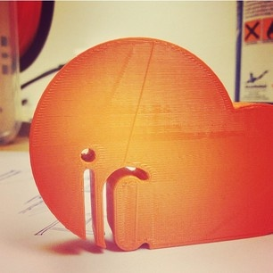 IC = Interns, IC-logo has been 3D-printed #berghs #internship #pond #logo #3D-print #interactive #Communication #IC