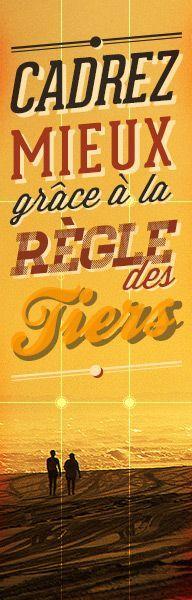 Cadrez mieux grâce à la Règle des Tiers !  À lire sur http://tontonphoto.fr/2012/07/07/cadrez-mieux-regle-des-tiers/?utm_source=reseaux-sociaux&utm_medium=pinterest&utm_content=regle-tiers