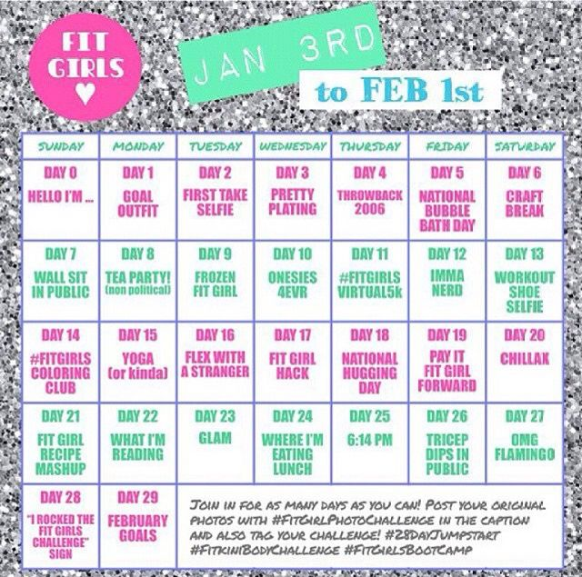 Girls fit 28 day challenge guide fandeluxe Gallery