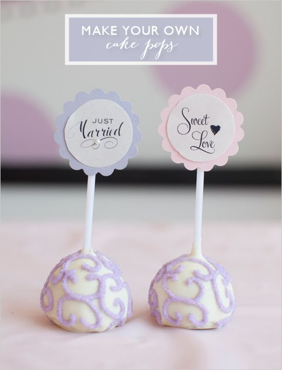 Have you tried a cake pop yet? They are simply delicious and the perfect alternative to a huge slice of wedding cake. Surprisingly enough, you can easily m