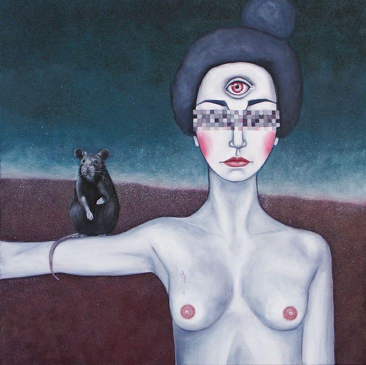 Joanna Krzepina - Ciuciubabka. olej na płótnie 75x75. 2012