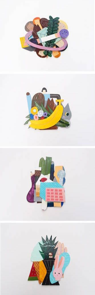 I love of everything that comes out of the hands of Barcelona-based illustrator Miju Lee. Like these brand new, superfun collages I spotted on her site the other day. More on the blog! http://www.artisticmoods.com/miju-lee-3/