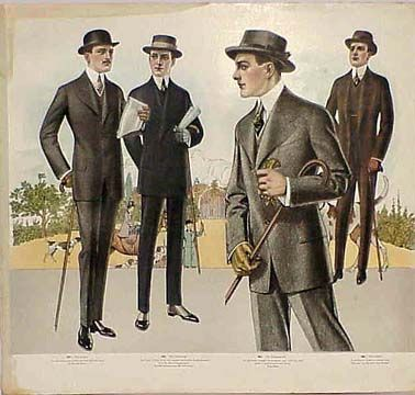 Plates from a Tailor's Catalog of Men's Fashions 1915-16