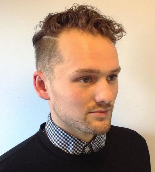 curly top short sides hairstyle for men