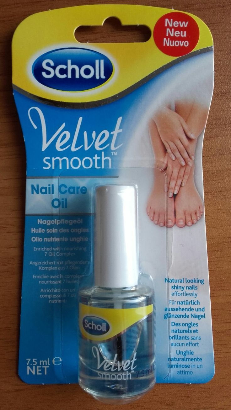 Olio idratante per unghie Velvet Smooth Scholl. Con oli di origine naturale. Perfetto per rendere le vostre unghie lucide e bellissime.