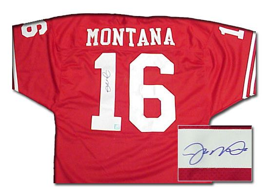 Joe Montana Signed Authentic San Francisco 49Ers Jersey --Red