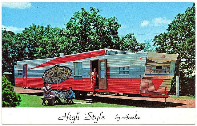 High Style by wackystuff, via Flickr: High Style, Vintage Trailers, Mobiles Home, Trailers Living, Trailers Parks, Vintage Camps, Travel Trailers, Vintage Mobiles, Vintage Campers