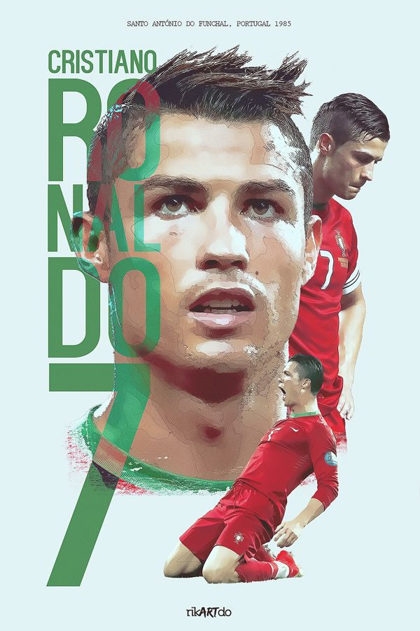 Cristiano Ronaldo by Ricardo Mondragon, via Behance