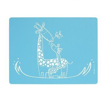 Giraffe Giggles Placemat Blue $22.95 #sweetcreations #baby #toddlers #kids #feeding #feedme