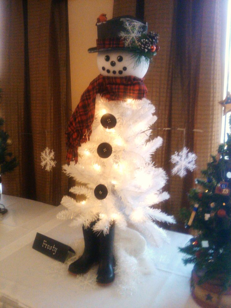 "whiteChristmas Tree snowman | ... – ""Frosty The Snowman Christmas Tree"" 