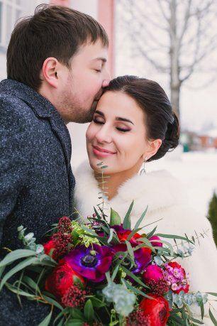 Счастливая улыбка невесты