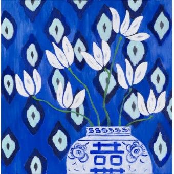 Magnolia Blue Ikat - Mariska Meijers