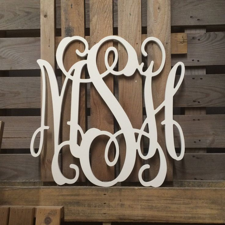 Large Wooden Monogram Wall Letters 30 Wedding Guest Book Decor 3 Keyhole Slots On Back
