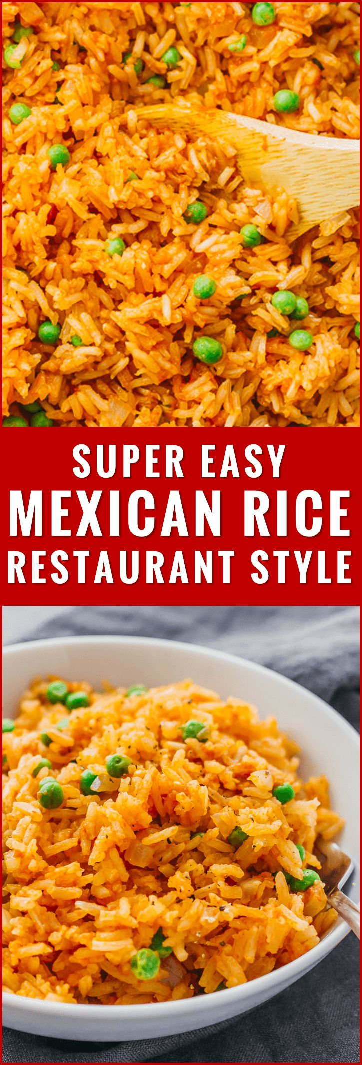 This mildly spicy Mexican rice is easily cooked using a pan on the stove, and has lime, onion, and garlic flavors. recipe, easy, authentic, restaurant style, healthy, quick, homemade, best, how to make mexican rice, for a crowd, vegetarian, with vegetables, peas, bowl, skillet, simple, oven, traditional, seasoning, white rice, tomato paste, bake, dishes, fluffy, skinny, real, spicy, meals, clean, gluten free, burrito, dinner, cilantro, leftover, with veggies, with peas, fast, for two via…