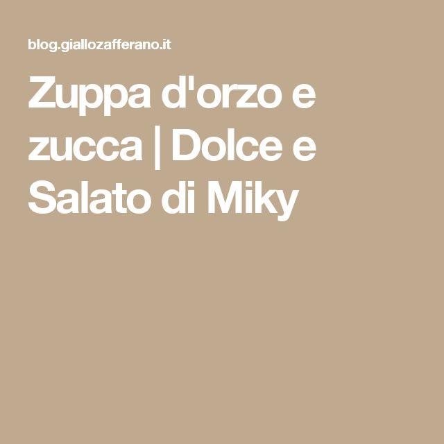 Zuppa d'orzo e zucca | Dolce e Salato di Miky