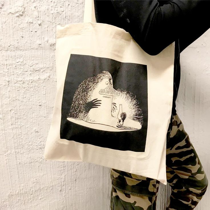 As part of the GLOW Art Workshop this Groke bag was inspired by the young students at Luksia, Western Uusimaa Municipal Training and Education Consortium. Allp