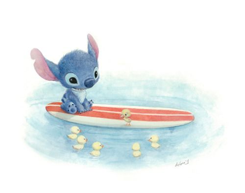 "My second piece for the Wonderground Gallery at Disney, ""Swimming Lessons"""