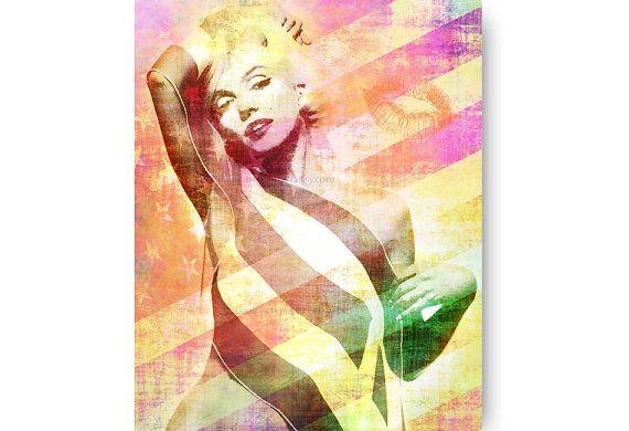 Marilyn Monroe Hollywood-Film-Dekor Marilyn von PoolPartyPopArt