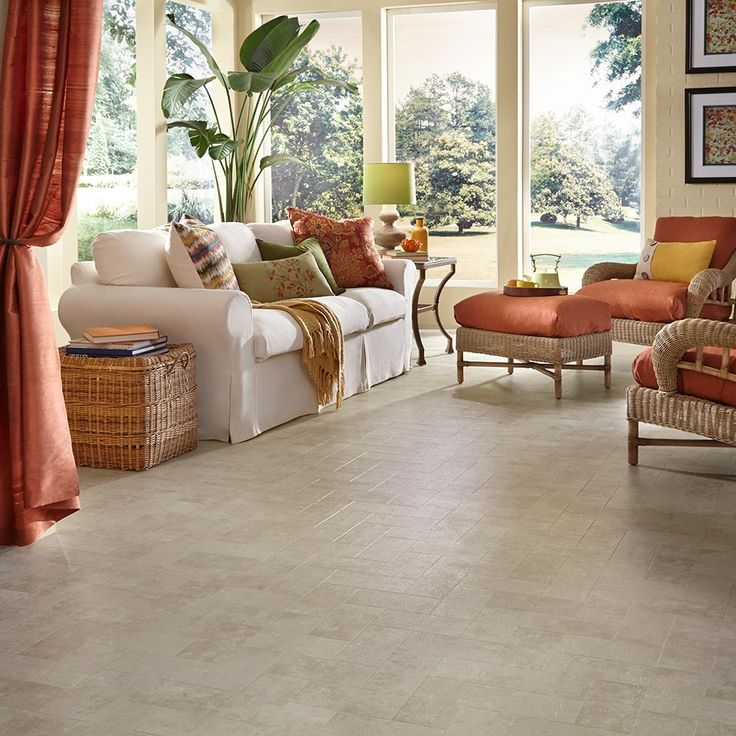 Luxury Vinyl Flooring In Living Room