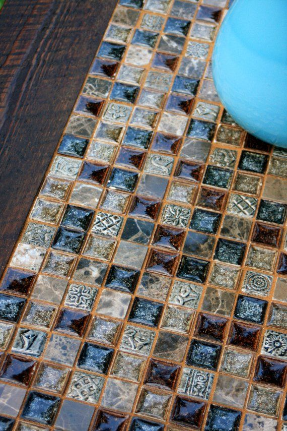 Coffee Table Mosaic Coffee Table Glass And Stone Tile Mosaic Etsy Mosaic Coffee Table Mosaic Table Mosaic Tiles