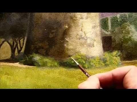 Pintando al Oleo -  Follaje-helechos ( parte 1)