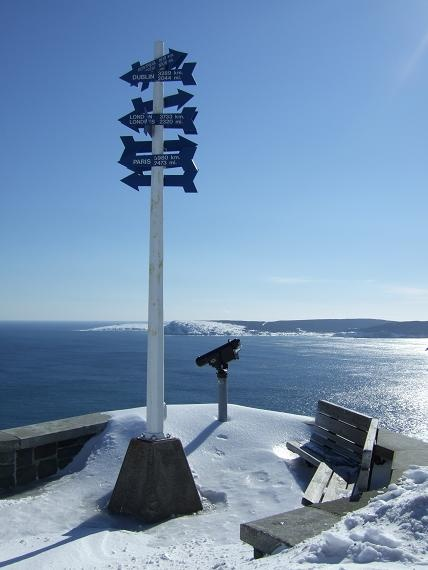 at Signal Hill in winter