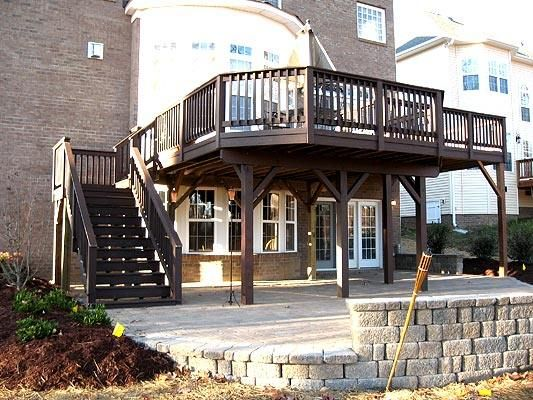 elevated deck designs elevated composite deck creating covered patio area composite and - Patio Deck Ideas Designs