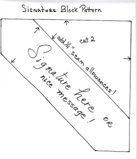 Signature quilt idea