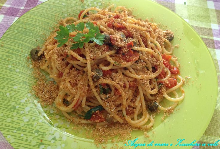 Spaghetti all'eoliana