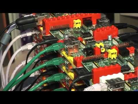 """supercomputer"" containing 64 Raspberry Pis housed inside Legos"