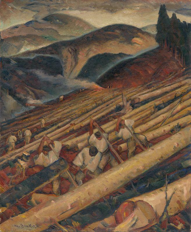 Martin Benka Drevorubači pod Salatínom 1931