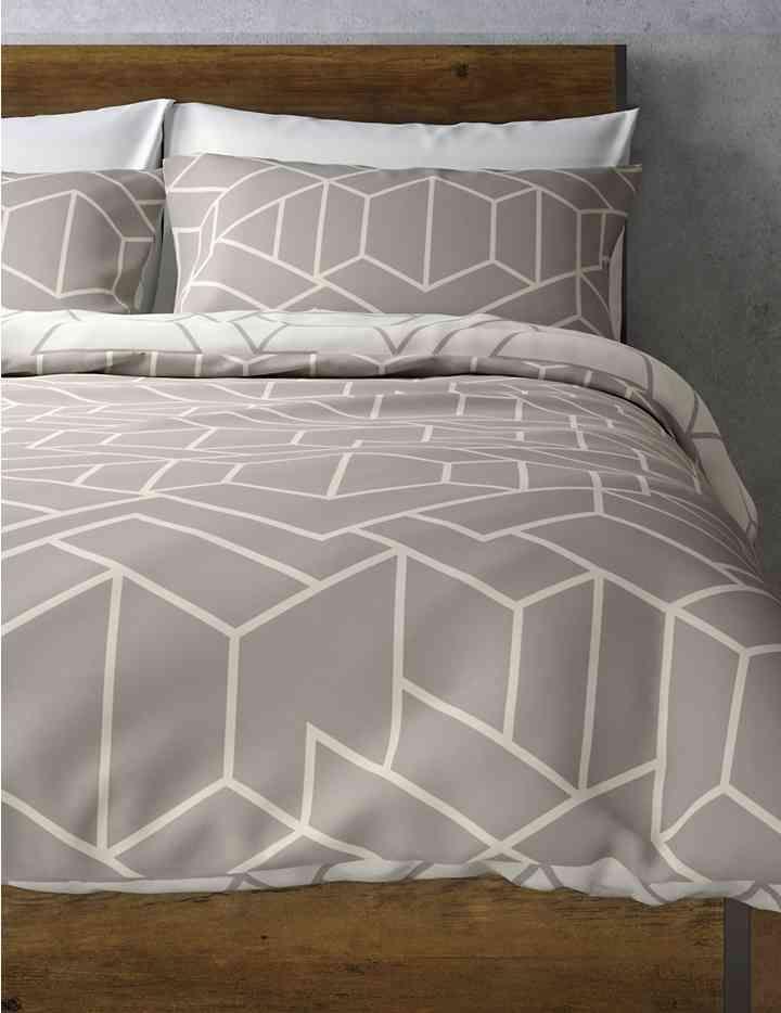 Geometric Print Bedding Set Bedroom Color Schemes Striped
