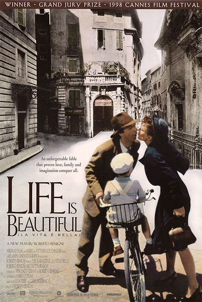Life is Beautiful (1998) - This movie is a emotional roller coaster, but as the title says it teaches that life is precious.