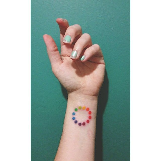 In love with my new color wheel tattoo. ♡ #miami #artnerd #artbasel Instagram.com/beleek