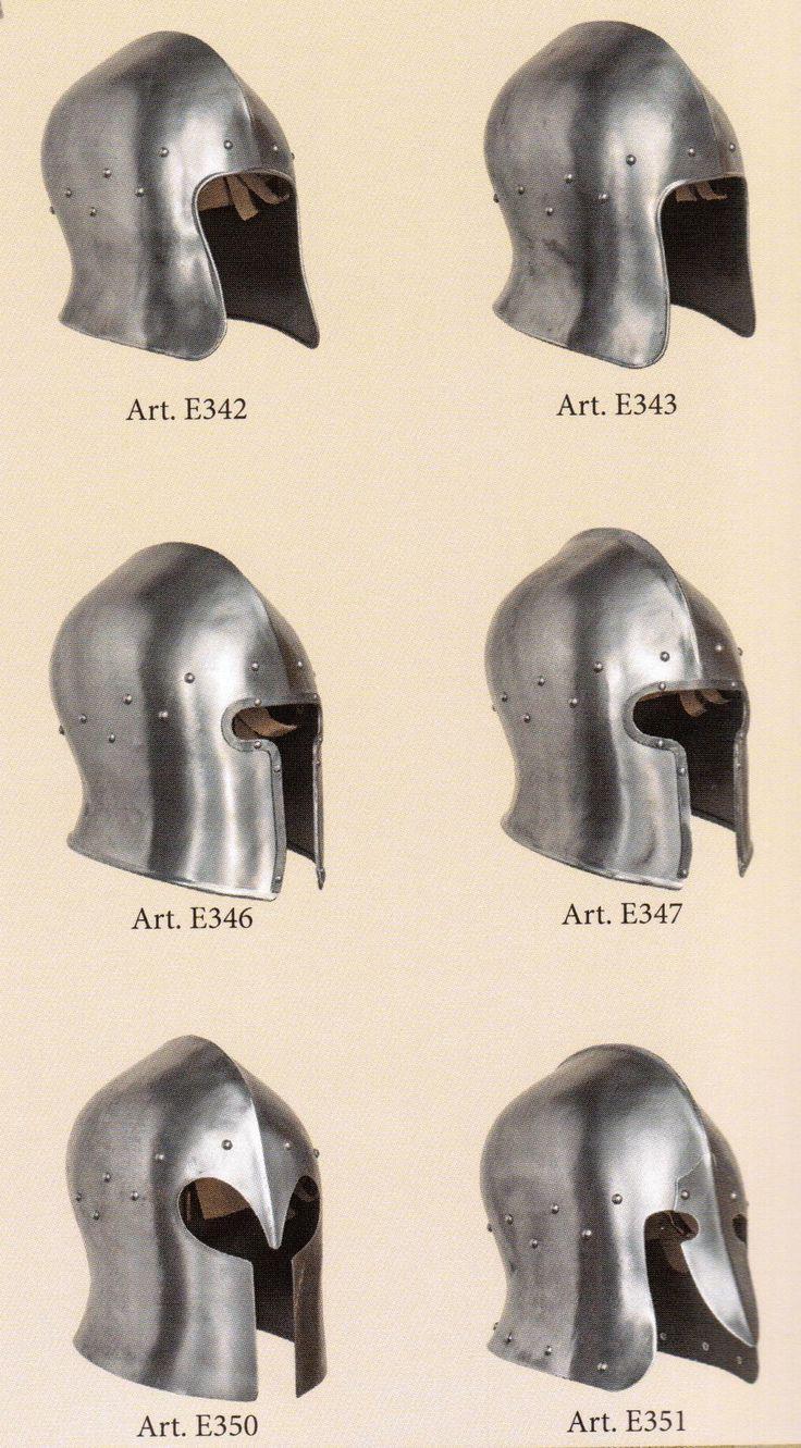 medieval helmets