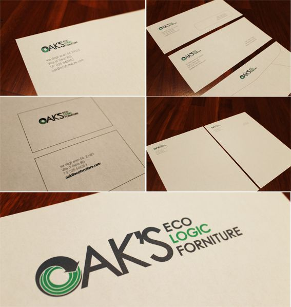 my university project - logo design and corporate image for an ecologic forniture company