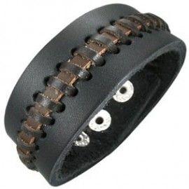Pulseras de cuero, brazaletes de cuero, pulseras anchas de cuero para hombre y mujer (3) - SilverCode