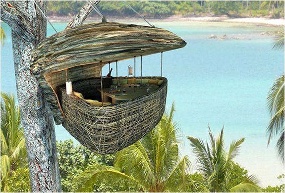 tree house: Soneva Letter, Birds Nests, Resorts, Sonevakiri, Trees Houses, Dinners, Thailand, Treehouse, Dining Pods