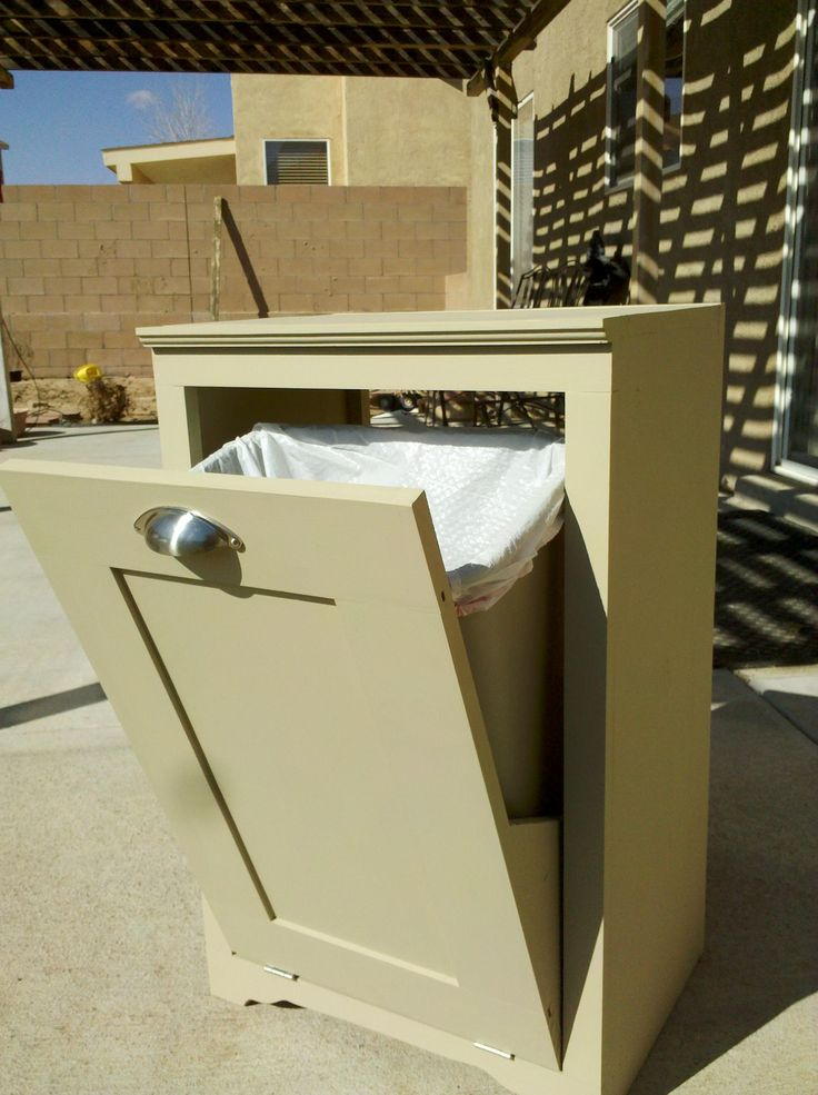 Another view of trash can cabinet,  plans on ana-white.com