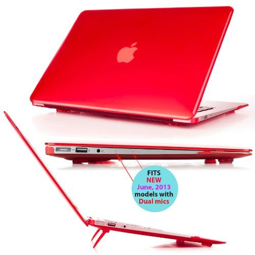 Hot New Release! iPearl mCover Hard Shell Cover Case with FREE keyboard cover for 13.3-inch Apple MacBook Air A1369 & A1466 - RED - http://www.belokitech.com/ipearl-mcover-hard-shell-cover-case-with-free-keyboard-cover-for-13-3-inch-apple-macbook-air-a1369-a1466-red/