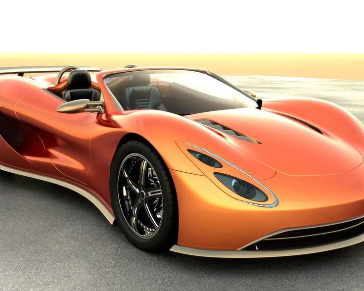 Orange Scorpion Sport Car Wallpaper