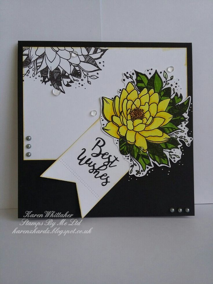 Best Wishes tag die set and Flowers For You stamp by Stamps By Me  #stampsbyme #bestwishesdie #tagdie #kuretakezig #dtsample #flower #stamping #stamp #cardmaking #card #creative #craft #ilovetocraft