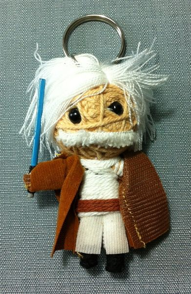 Obi+Wan+Kenobi+Baumwolle+Puppe+Schlüsselanhänger+de+Thaicraftvillage+sur+DaWanda.com