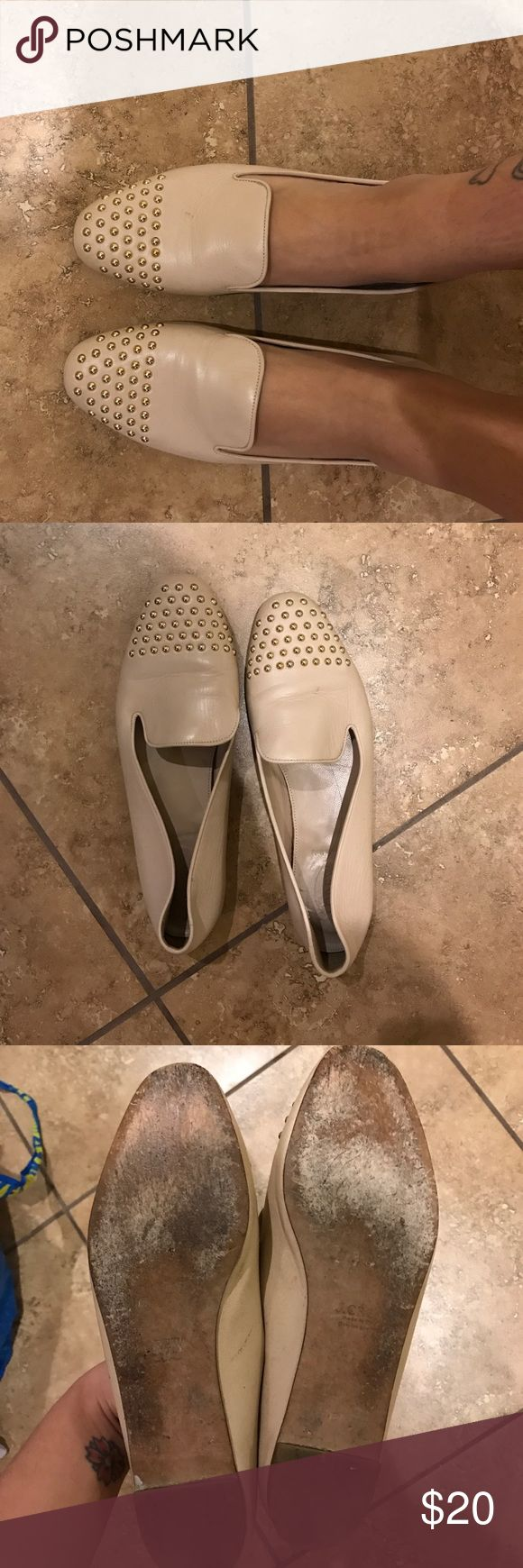 Jcrew tan loafers Tan leather loafers size 10. Very comfortable J. Crew Shoes Flats & Loafers