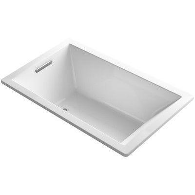 """Kohler Underscore Vibracoustic 60"""" x 36"""" Soaking Bathtub Finish: White"""