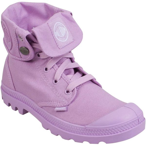 Palladium Women's Baggy M Boot High-Top Sneaker ($75) ❤ liked on Polyvore featuring shoes, sneakers, lavender, high top trainers, lightweight sneakers, laced sneakers, lug-sole shoes and lace up high top sneakers