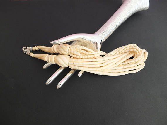 Gerda Lynggaard MONIES splendide collier plastron en os