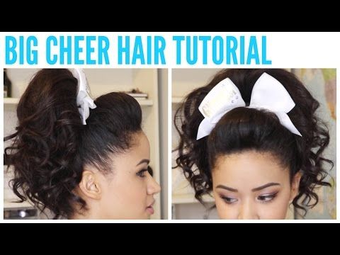 - BIG CHEER HAIR TUTORIAL - Perfect Poof and Curly Ponytail ♡ Jaydee Stone - YouTube